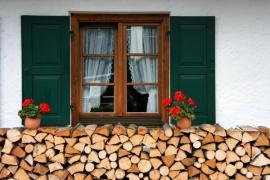 Skladování palivového dřeva