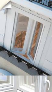 Špaletové dřevěné okno