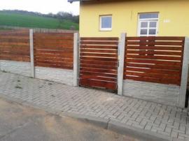 Dřevěná plotová výplň