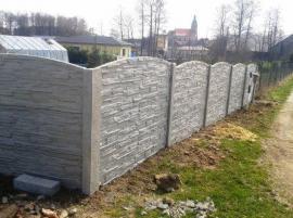 Jedna z variant betonového oplocení