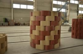 Tvarovky RONDE BLOCK, okrová a cihlová barva