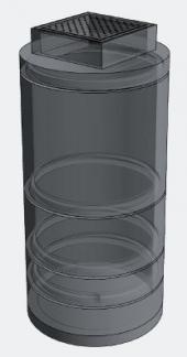 Šachtový systém - 3D vizualizace