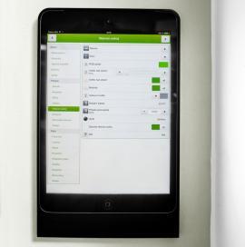 Ukázka vizualizace ovládání pomocí tabletu