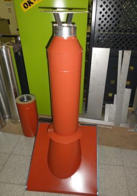 Třívrstvý kovový komín s barevnou povrchovou úpravou