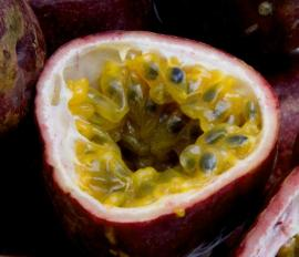 Rozříznutý plod mučenky
