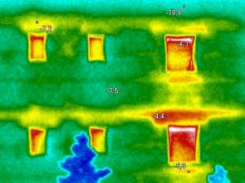 Termoobrázek s úniky tepla