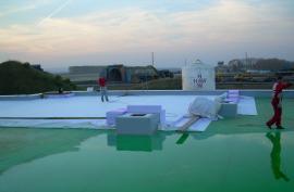 Provádění fóliové hydroizolace střechy