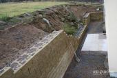 Výstavba opěrné zdi