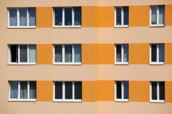 Zateplený bytový panelový dům