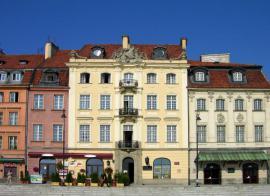 Fasádní barvy na fasádách starší městské zástavby