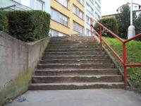 Betonové schodiště před sanací