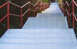 Betonové schodiště po sanaci