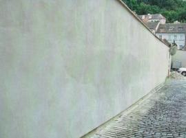 Zeď po sanaci