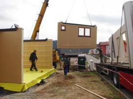 Výstavba montované dřevostavby