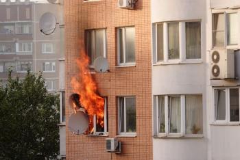 Požár v bytovém domě