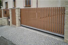Plastová plotová pole - O dub 80-100x168-188 cm