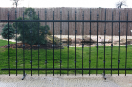 Kovaná plotová výplň PALERMO 1200x2360 - kovářská černá