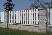 Plastová plotová pole - S bílá 80-100x168-188 cm