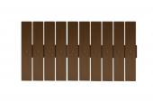 Plastová plotová pole - S ořech 80-100x168-188 cm