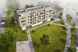 Nový bytový dům CHYTRÉ BYDLENÍ JRM@Lužiny - vizualizace