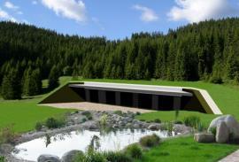 Dům EKORD zapuštěný do krajiny