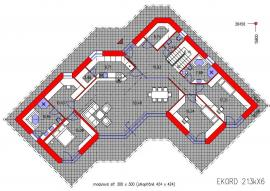 Půdorys rodinného domu EKORD 213kX6