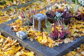 Využití vřesu při výzdobě hrobu