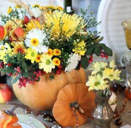 Květináč / váza z dýně