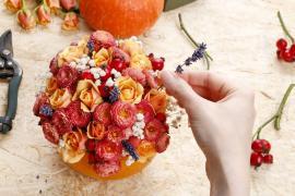 Výroba dekorace ze sušených květin