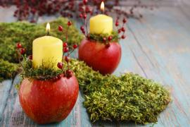 Výroba podzimních svícnů