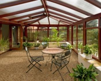 Povrch TopStone® v zimní zahradě