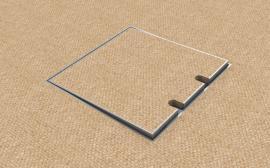 Do tohoto typu podlahové zásuvky lze do víka vložit jakákoli podlaha do tloušťky 15 mm, včetně koberce