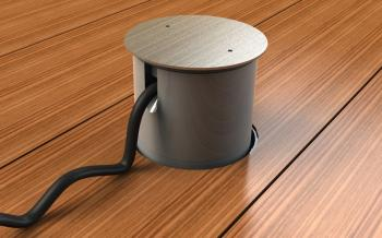 Venkovní podlahovou zásuvku je možné dočasně opatřit nástavcem