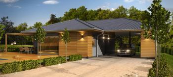 Typový bungalov Rouge (automobilové stání je nadstandardem)