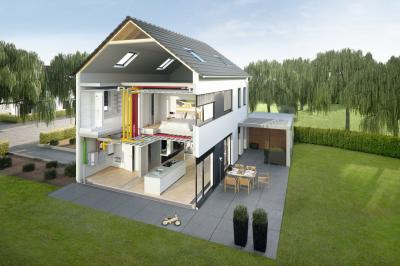 Schéma rozvodů vzduchu po domě