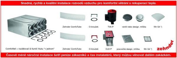 *) filtry G4 se osazují na ventily nebo designové mřížky odváděného vzduchu