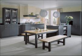 Rustikální kuchyně 4020, šedá myší, strukturovaný lak