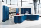Luxusní kuchyně AV 6000/AV 7051, noční modrá/bílá