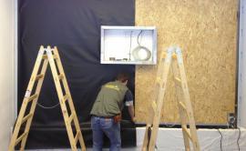 Realizace zelené stěny - hydroponie na textilii