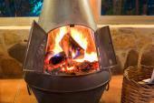Přenosné ohniště - ocelový sloup