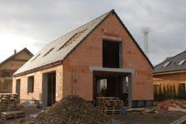 Výstavba pasivního domu ve Vraném nad Vltavou, foto: Jan Kukla