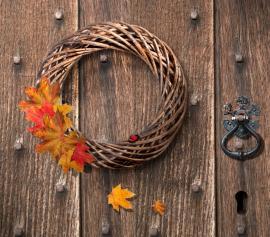 Jednoduchý podzimní věnec