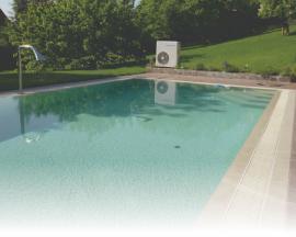 Kompaktní tepelné čerpadlo je ideální umístit co nejblíže bazénové technologii