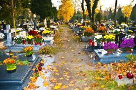 Výzdoba hrobů na Dušičky