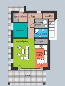 1. nadzemní podlaží pasivního domu MAPLE 20