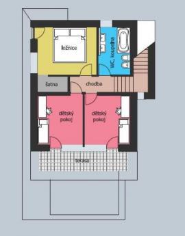 2. nadzemní podlaží pasivního domu MAPLE 20