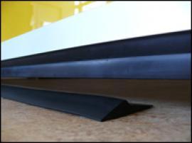 Těsnění sekčních garážových vrat TRIDO na podlahu