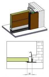 Sekční garážová vrata TRIDO Evo - instalace před stavební otvor