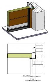 Sekční garážová vrata TRIDO Evo - instalace do stavebního otvoru nebo za něj