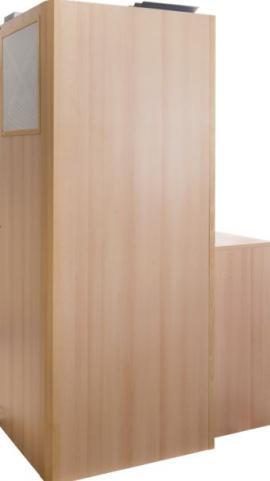 Vertikální interiérová jednotka DUPLEX 850 Inter sdesignovým povrchem dřeva